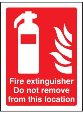 Fire Extinguisher Do Not Remove