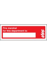 Fire Marshal for this Department Is