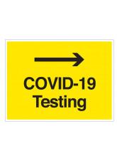 COVID-19 Testing (arrow right)