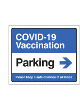 COVID-19 Vaccination - Parking (arrow right)