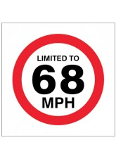 Limited to 68mph