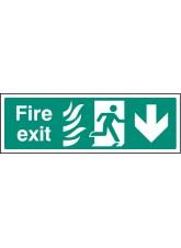 HTM Fire Exit - Arrow Down