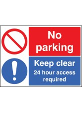 No Parking Keep Clear 24 Hour Access Required