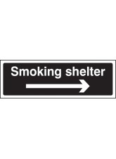 Smoking Shelter Right Arrow (White / Black)