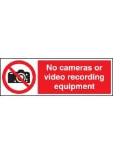No Cameras Or Video Recording Equipment