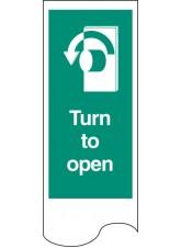 Door Plate - Turn to Open Left