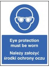 Eye Protection Must be Worn (English / Polish)