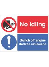 No idling - Switch off Engine Reduce Emissions