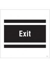 Exit - Site Saver Sign - 400 x 400mm
