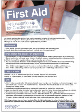 First Aid Resuscitation for Children Poster - 420 x 594mm