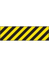 Hazard Marker (Left Hand) - Reflective Aluminium - 600 x 150mm