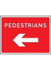 Fold Up Sign - Pedestrians Arrow Left / Right - 600 x 450mm