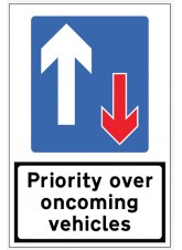 Priority Over Oncoming Traffic Reflective Fold Up Sign