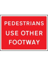 Pedestrians Use Other Footway - Class RA1 - 600 x 450mm