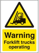 A4 Warning Forklift Trucks Operating