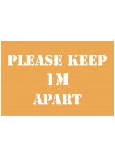 Please Keep  Apart Stencil - 1m / 2m / Generic Distance Options