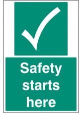 Safety Starts Here - Floor Graphic