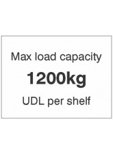 Maxload Capacity 1200kg UDL Per Shelf