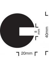 Impact Protection - Semi-Circular 40 / 40 / 8 - Push On