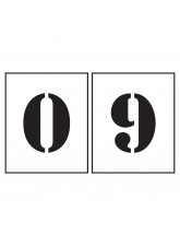 Stencil Kit - Numbers 0-9 - 150mm