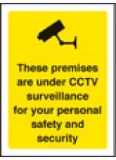 Premises Are Under CCTV Surveillance - Window Sticker - 75 x 100mm