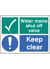 Water Mains Shut Off Valve Keep Clear