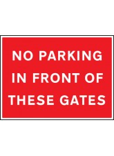 No Parking in Front of these Gates