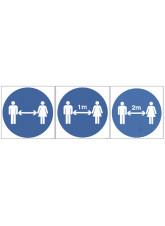 Distancing Symbol - 1m / 2m / Generic Distance Options