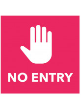 No Entry - Red Floor Graphic