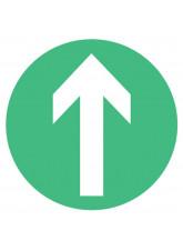 Arrow - Green Floor Graphic (Circle)