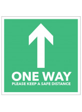 One Way Arrow - Green Floor Graphic (Square)