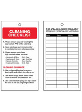 COVID-19 Cleaning Safety Tag